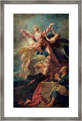 The Assumption Of The Virgin Framed Print by Jean Francois de Troy
