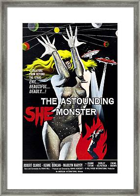 The Astounding She-monster, 1-sheet Framed Print