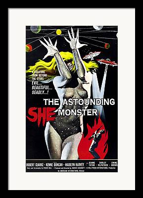 Astounding She-monster Framed Prints