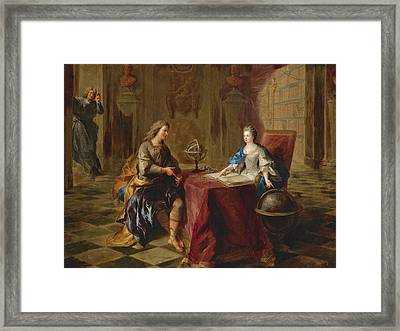 The Astronomy Lesson Of The Duchesse Du Maine Framed Print by Francois de Troy