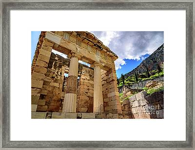 The Athenian Treasury At Delphi, Greece Framed Print