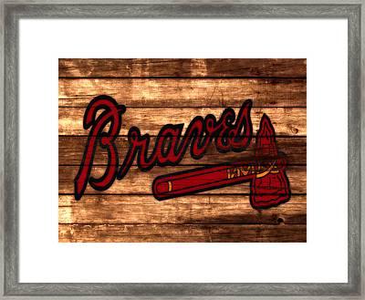 The Atlanta Braves 3a     Framed Print by Brian Reaves