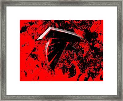 The Atlanta Falcons 1c Framed Print by Brian Reaves