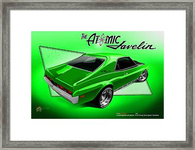 The Atomic Javelin Rear Framed Print