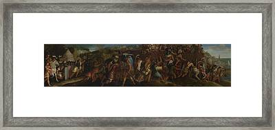 The Attack On Cartagena Framed Print