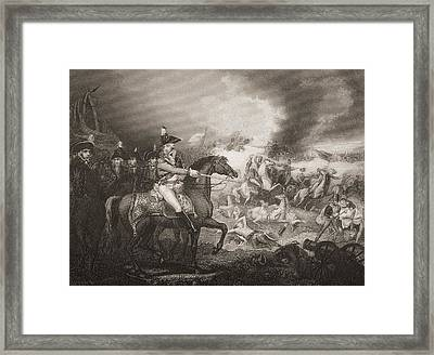 The Attack Upon The French Camp On The Framed Print by Vintage Design Pics