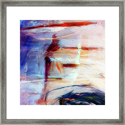 Framed Print featuring the painting The Auberge by Dominic Piperata