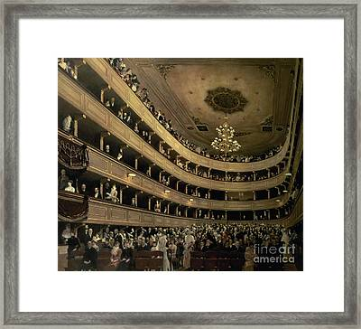 The Auditorium Of The Old Castle Theatre Framed Print by Gustav Klimt