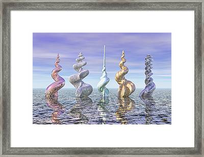 The Augers Of Time Framed Print