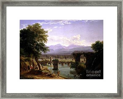 The Augustan Bridge On The Nera River Framed Print by MotionAge Designs