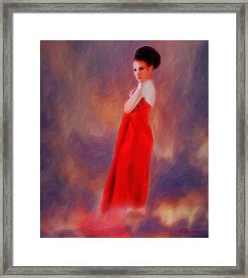 The Aura Of Her World Framed Print by Richard Hemingway