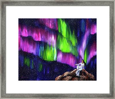 The Aurora Of Compassion Framed Print by Laura Iverson