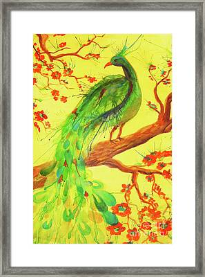 The Auspicious Peacock Framed Print