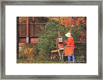 The Autumn Painter Framed Print by Tami Quigley