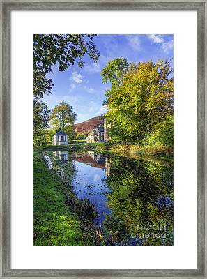 Framed Print featuring the photograph The Autumn Pond by Ian Mitchell