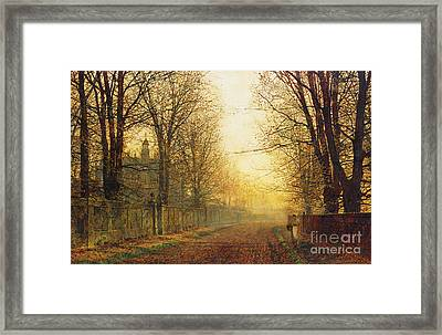 The Autumn's Golden Glory Framed Print by John Atkinson Grimshaw