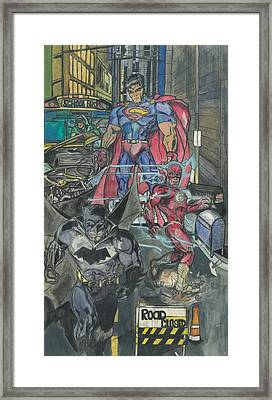 The Avengers Framed Print by Cortez Davis