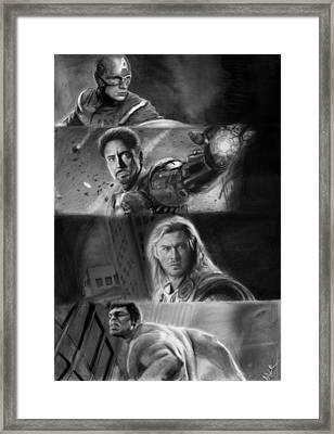 The Avengers Framed Print by Nat Morley