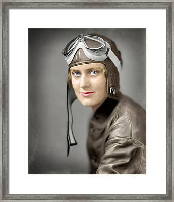 The Aviatrix  1920 Framed Print by Daniel Hagerman