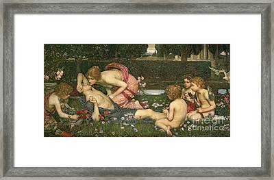 The Awakening Of Adonis Framed Print by John William Waterhouse