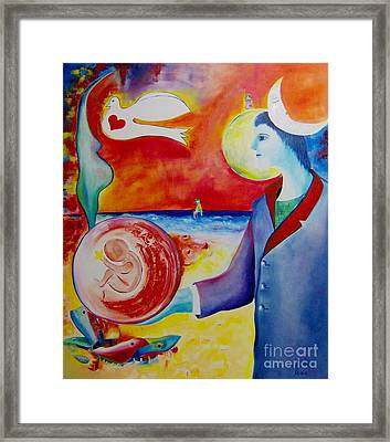 The Awakening Of Humanity Framed Print by Nela Vicente