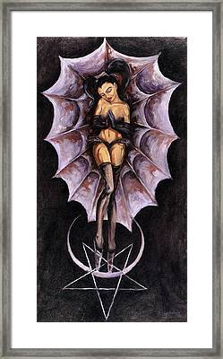 the Awakening of Lucifer and Diana Framed Print by Gabriel Alcaraz