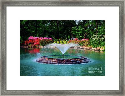 The Azalea Pond At Honor Heights Park Framed Print by Tamyra Ayles