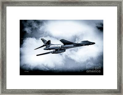 The B-1 Bomber Referred To As The Bone Framed Print by Rene Triay Photography