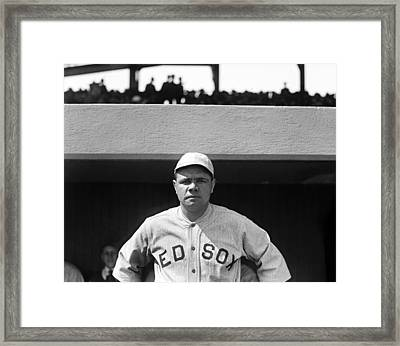The Babe - Red Sox Framed Print