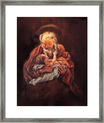 Framed Print featuring the painting The Baby Jesus - A Study by Donna Tucker