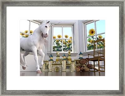 The Baby Sitters By Betsy C Knapp Framed Print