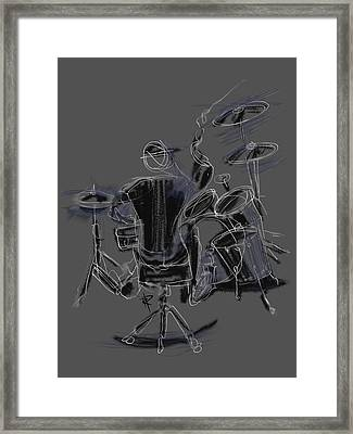 The Back Beat Framed Print