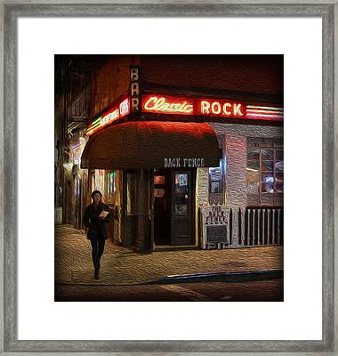 The Back Fence Bar Framed Print