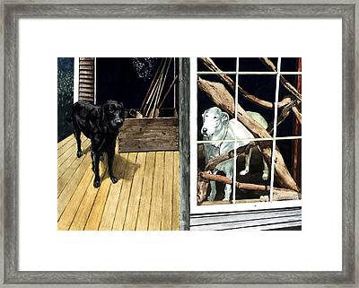 The Back Porch Framed Print by Perry Woodfin