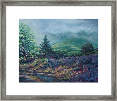 The Back Road In Framed Print