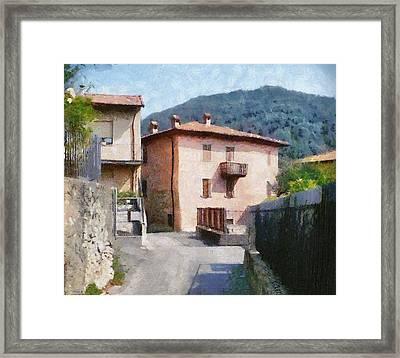 The Back Street Towards Home Framed Print