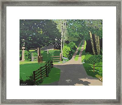 The Back Woods Framed Print by Malcolm Warrilow