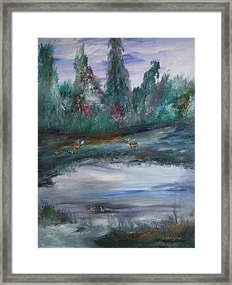 The Backwaters Pond Framed Print by Edward Wolverton