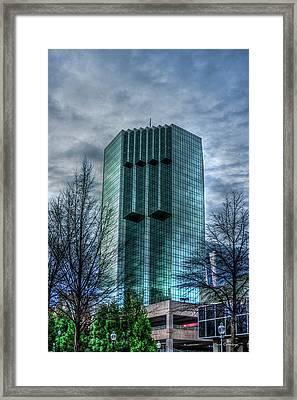 The Backyard Tower Place 100 Buckhead Atlanta Art Framed Print by Reid Callaway
