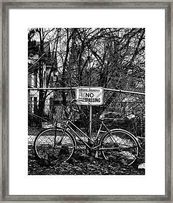 The Bad Bicycle No 2 Framed Print by Brian Carson
