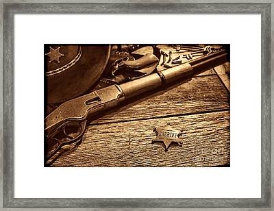 The Badge Framed Print