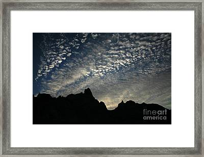 The Badlands At Dawn Framed Print