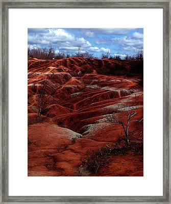 The Badlands Framed Print by Cabral Stock