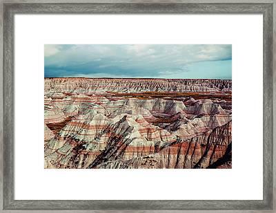 The Badlands Of South Dakota I Framed Print