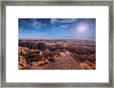 The Badlands Of South Dakota II Framed Print
