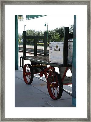 The Baggage Cart And Truck Framed Print by Rob Hans