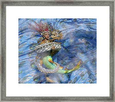 The Balance Of Peace And War Framed Print by Betsy Knapp