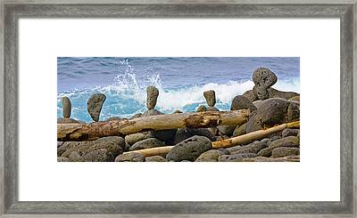 The Balancing Act Framed Print by Charlie Osborn