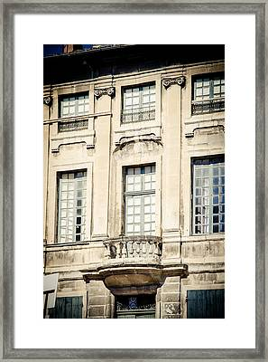 Framed Print featuring the photograph The Balcony by Jason Smith