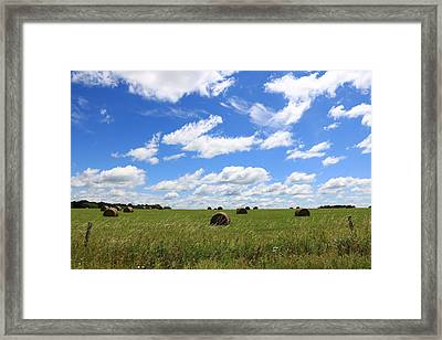 The Bales Of Summer 3 Framed Print